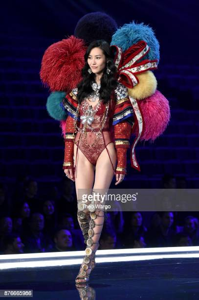 Liu Wen walks the runway during the 2017 Victoria's Secret Fashion Show In Shanghai at MercedesBenz Arena on November 20 2017 in Shanghai China
