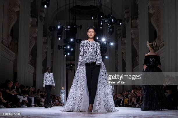 Liu Wen walks the runway during the Givenchy Haute Couture Fall/Winter 2019 2020 show as part of Paris Fashion Week on July 02, 2019 in Paris, France.