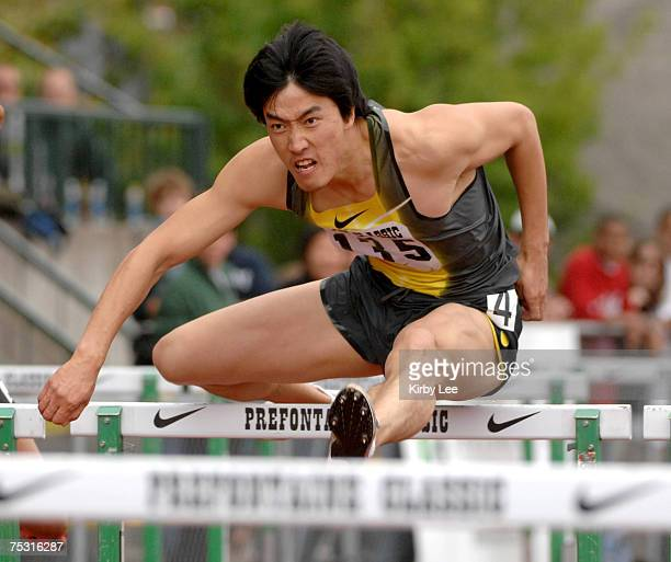 Liu Xiang of China won the 110meter hurdles in 1323 in the Prefontaine Classic at the University of Oregon's Hayward Field in Eugene Ore on Sunday...