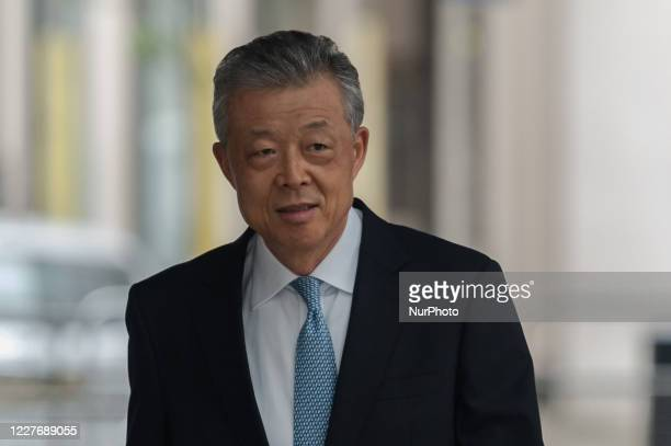 Liu Xiaoming, Chinese ambassador to the UK, arrives at the BBC Broadcasting House in central London to appear on The Andrew Marr Show on 19 July 2020...