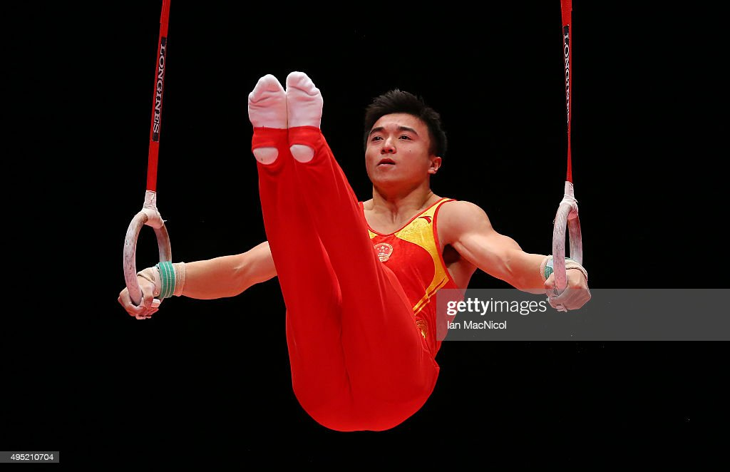Liu Yang of China competes on the Rings during day nine of World Artistic Gymnastics Championships at The SSE Hydro on October 31, 2015 in Glasgow, Scotland.