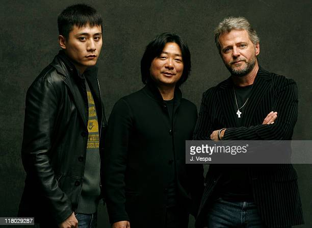 Liu Ye Chen ShiZheng Director and Aidan Quinn during 2007 Sundance Film Festival 'Dark Matter' Portraits at Delta Sky Lodge in Park City Utah United...