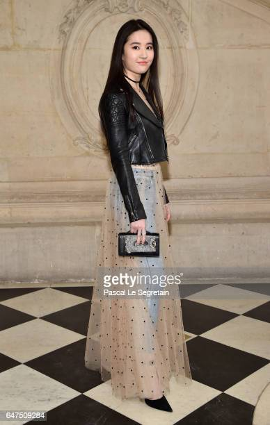 Liu Yifei attends the Christian Dior show as part of the Paris Fashion Week Womenswear Fall/Winter 2017/2018 at Musee Rodin on March 3 2017 in Paris...