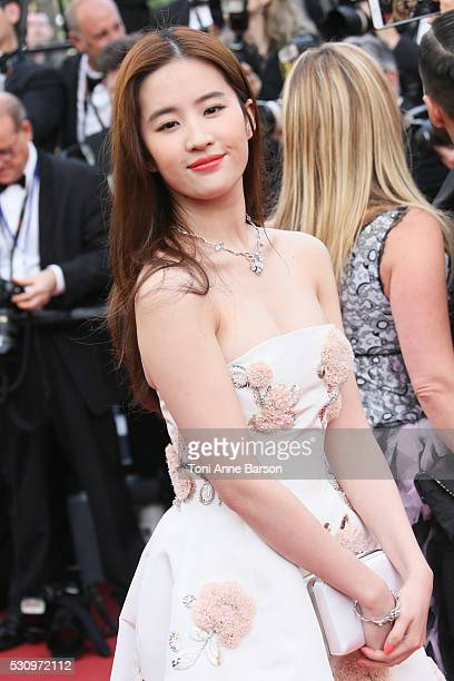 Liu Yifei attends the screening of 'Cafe Society' at the opening gala of the annual 69th Cannes Film Festival at Palais des Festivals on May 11 2016...