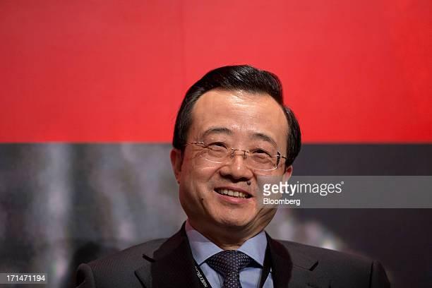 Liu Zhichao chairman of the China Futures Association attends the London Metal Exchange Week Asia 2013 Seminar in Hong Kong China on Tuesday June 25...