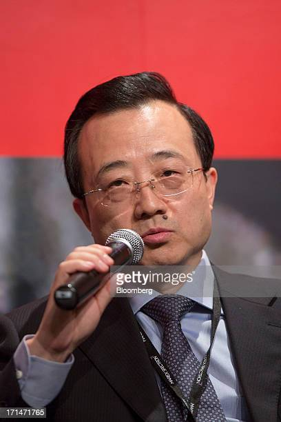 Liu Zhichao chairman of the China Futures Association speaks during the London Metal Exchange Week Asia 2013 Seminar in Hong Kong China on Tuesday...