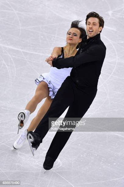 Liubov Ilyushechkina and Dylan Moscovitch of Canada compete in the Pairs Short Program during ISU Four Continents Figure Skating Championships...