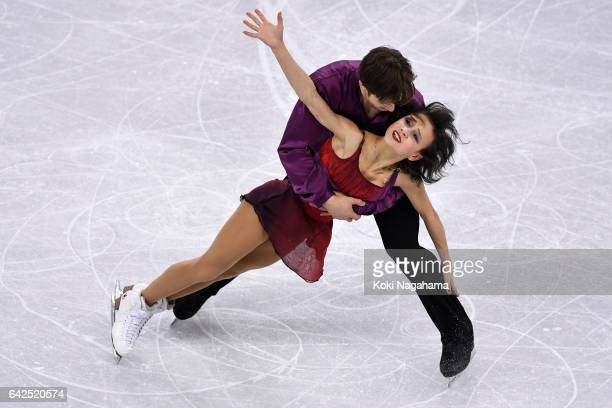 Liubov Ilyushechkina and Dylan Moscovitch of Canada compete in the Pairs Free Skating during ISU Four Continents Figure Skating Championships...