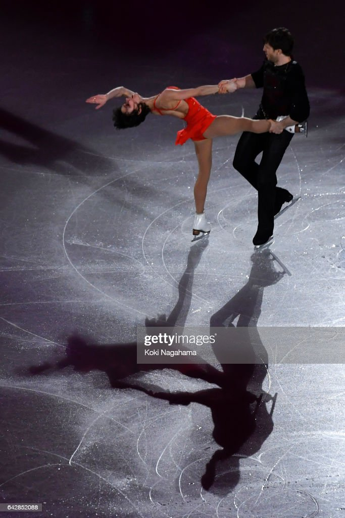 Liubov Ilyushechkina and Dylan Moscovitch of Canada perform in the Exhibition program during ISU Four Continents Figure Skating Championships - Gangneung -Test Event For PyeongChang 2018 at Gangneung Ice Arena on February 19, 2017 in Gangneung, South Korea.