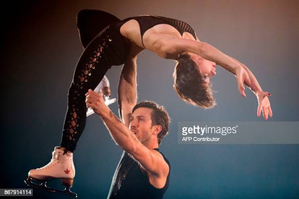 Liubov Ilyushechkina and Dylan Moscovitch of Canada perform their exhibition program at the 2017 Skate Canada International ISU Grand Prix event in...