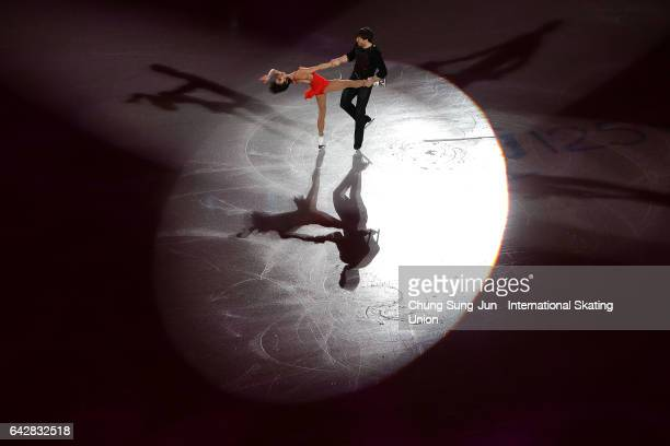 Liubov Ilyushechkina and Dylan Moscovitch of Canada skate in the Exhibition program during ISU Four Continents Figure Skating Championships Gangneung...