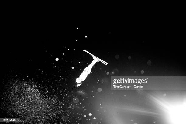 Liubov Nikitina an Olympic Athlete from Russia in action during the Freestyle Skiing Ladies' Aerials Final at Phoenix Snow Park on February16 2018 in...