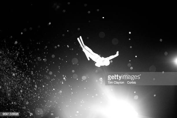 Liubov Nikitina an Olympic Athlete from Russia in action during the Freestyle Skiing Ladies' Aerials Final at Phoenix Snow Park on February16, 2018...