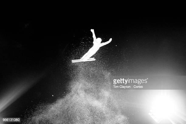 Liubov Nikitina and Olympic Athlete from Russia in action during the Freestyle Skiing Ladies' Aerials Final at Phoenix Snow Park on February16 2018...