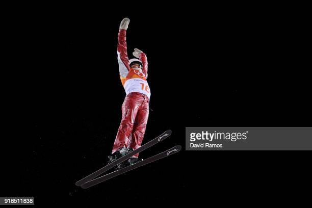 Liubov Nikitina of Olympic Athlete from Russia competes during the Freestyle Skiing Ladies' Aerials Qualification on day six of the PyeongChang 2018...