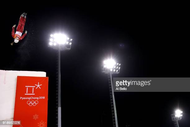 Liubov Nikitina of Olympic Athlete from Russia competes during the Freestyle Skiing Ladies' Aerials Final on day seven of the PyeongChang 2018 Winter...