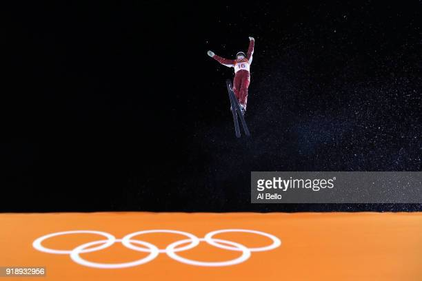 Liubov Nikitina of Olympic Athlete from Russia warms up ahead of the Freestyle Skiing Ladies' Aerials Final on day seven of the PyeongChang 2018...