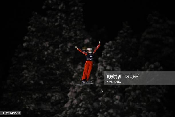 Liubov Nikitina of Russia jump in the Mixed Team Aerial Finals of the FIS Freestyle Ski World Championships on February 07 2019 at Deer Valley Resort...
