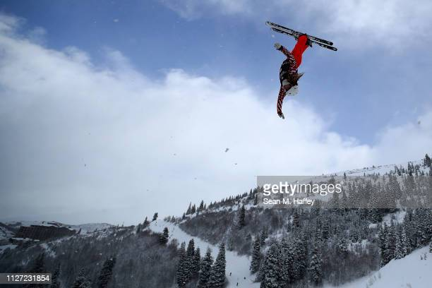 Liubov Nikitina of Russia takes a training run during the Ladies' Aerials training session for the FIS Freestyle Ski World Championships on February...