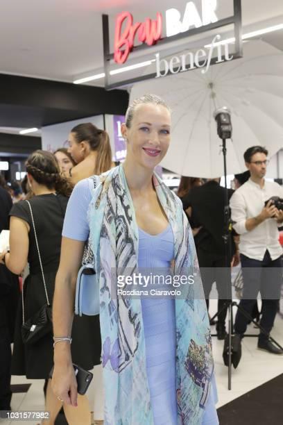Liudmila Radchenko attends Sephora Milano Duomo Grand Opening Party on September 11 2018 in Milan Italy