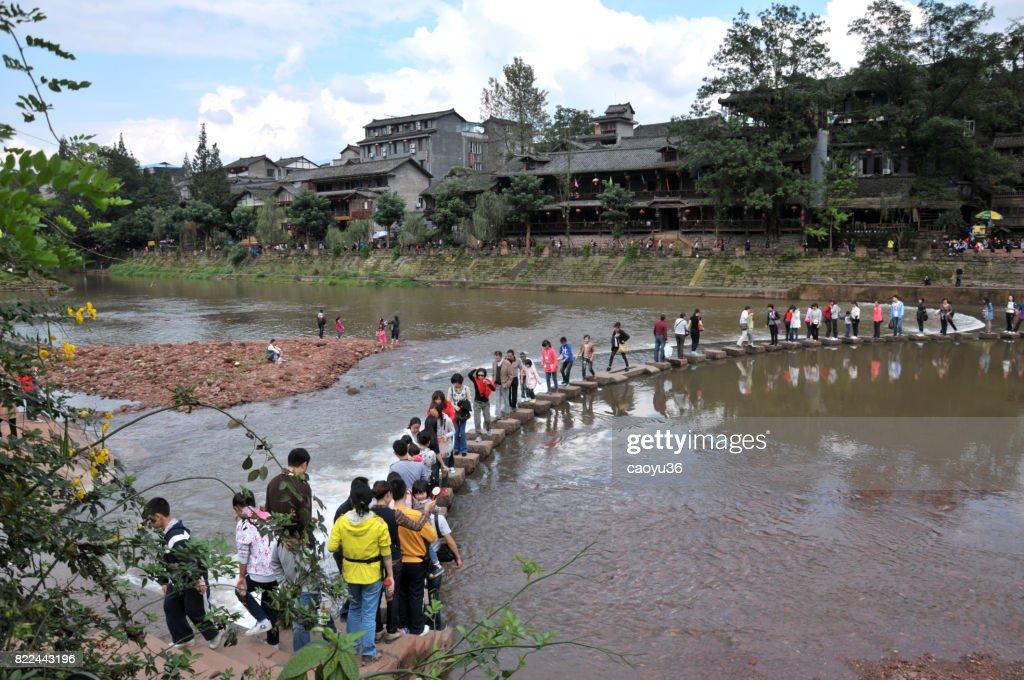 Liujiang ancient town,china : Stock Photo