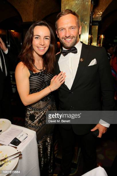 Liv Boeree and friend attend the International Day of the Girl Child Charity Event At The Original Annabel's hosted by The Bardou Foundation at...