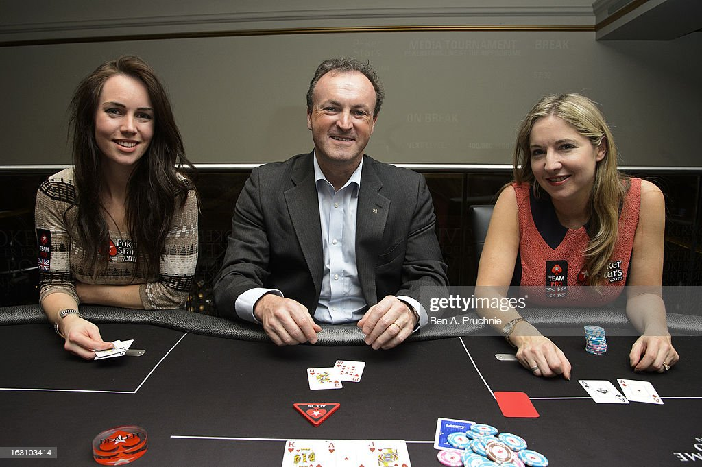 Liv Boeree, CEO and coowner of The London Hippodrome Simon Thomas and Victoria Coren attends the launch of The PokerStars LIVE Lounge at The Hippodrome Casino London on March 4, 2013 in London, England