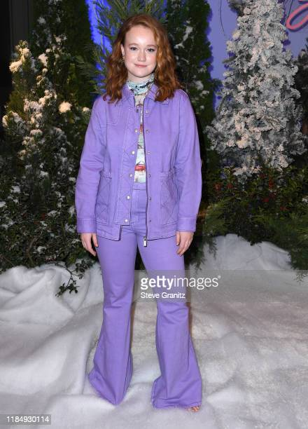 Liv Hewson arrives at the Photocall For Netflix's Let It Snow at the Beverly Wilshire Four Seasons Hotel on November 01 2019 in Beverly Hills...