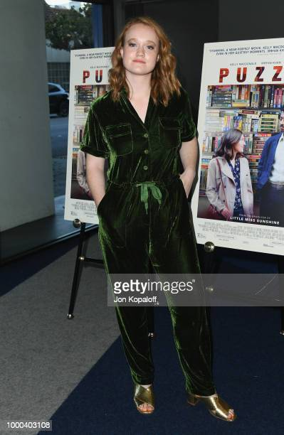 Liv Hewson attends premiere of Sony Pictures Classics' Puzzle at Writers Guild Theater on July 16 2018 in Beverly Hills California