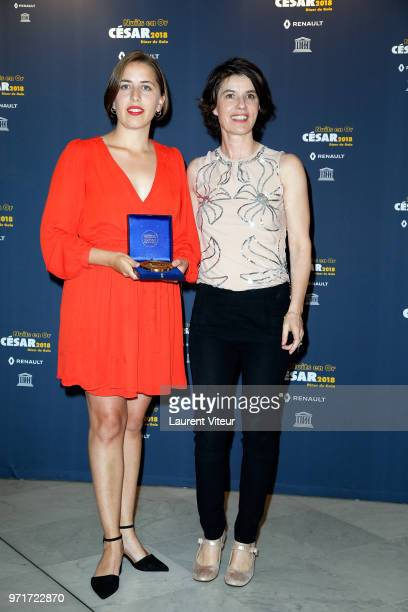 Liv J Barbosa Blad and Irene Jacob attend Les Nuits en Or 2018 at UNESCO on June 11 2018 in Paris France