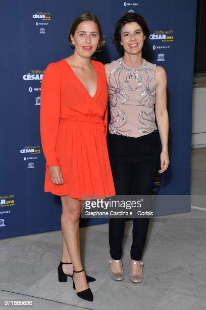 Liv J Barbosa Blad and Irene Jacob attends the 'Les Nuits En Or 2018' dinner gala at UNESCO on June 11 2018 in Paris France