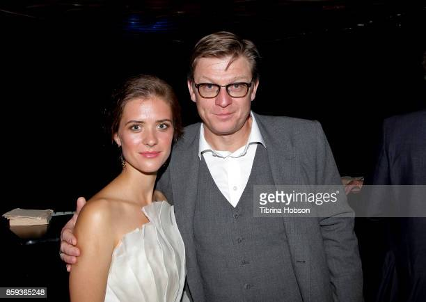 Liv Lisa Fries and Henk Handloegten attend the premiere of Beta Film's 'Babylon Berlin' after party on October 6 2017 in Los Angeles California