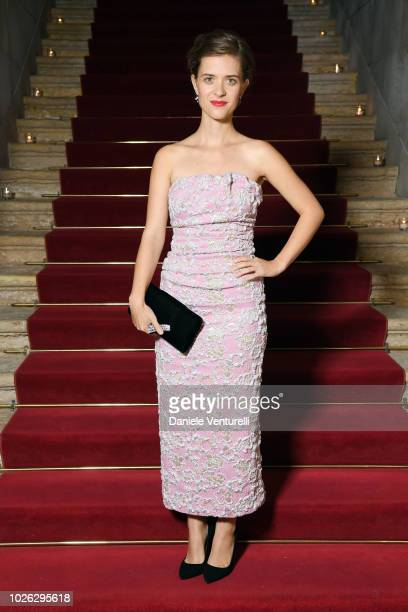 Liv Lisa Fries attends 2018 Kineo Dinner during the 75th Venice Film Festival on September 2 2018 in Venice Italy
