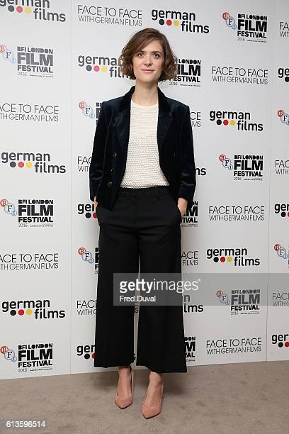 Liv Lisa Fries attends the 'Face To Face With German Films' photocall during the 60th BFI London Film Festival at The Mayfair Hotel on October 9,...