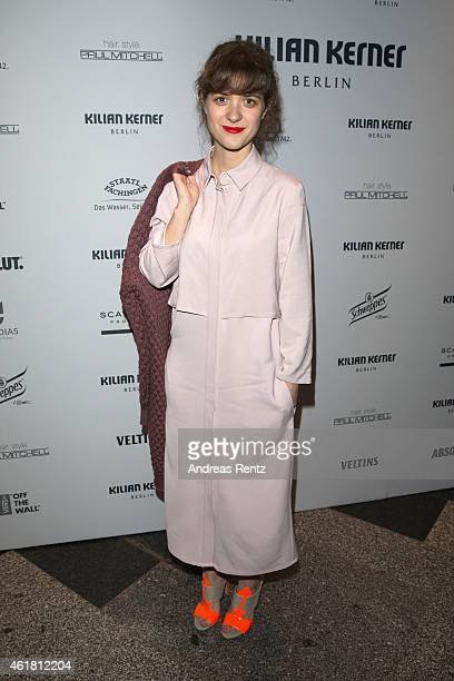 Liv Lisa Fries attends the Kilian Kerner show during the MercedesBenz Fashion Week Berlin Autumn/Winter 2015/16 at Kosmos on January 19 2015 in...