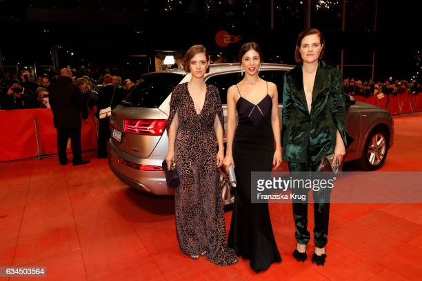 Liv Lisa Fries Aylin Tezel and Fritzi Haberlandt attend the 'Django' premiere during the 67th Berlinale International Film Festival Berlin at...