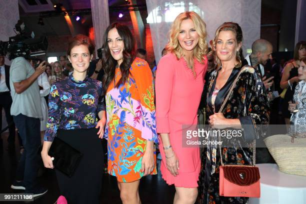 Liv Lisa Fries Bettina Zimmermann Veronica Ferres and Marie Baeumer during the Marc Cain Fashion Show Spring/Summer 2019 at WEEC Westhafen on July 3...
