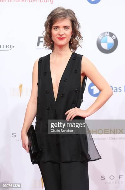 Liv Lisa Fries during the Lola - German Film Award red carpet at Messe Berlin on April 27, 2018 in Berlin, Germany.