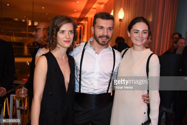 Liv Lisa Fries Edin Hasanovic and Lea van Acken attend the Lola German Film Award party at Palais am Funkturm on April 27 2018 in Berlin Germany