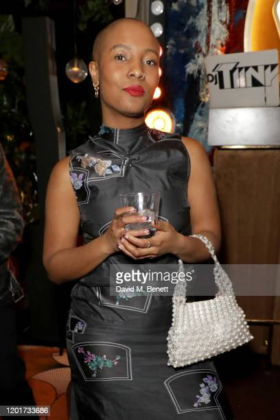 Liv Little attends the Warner Music CIROC BRIT Awards house party in association with GQ at The Chiltern Firehouse on February 18 2020 in London...