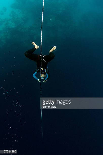 Liv Phillip of Great Britain in action during the Suunto free diving world cup on November 22 2012 in Long Island Bahamas