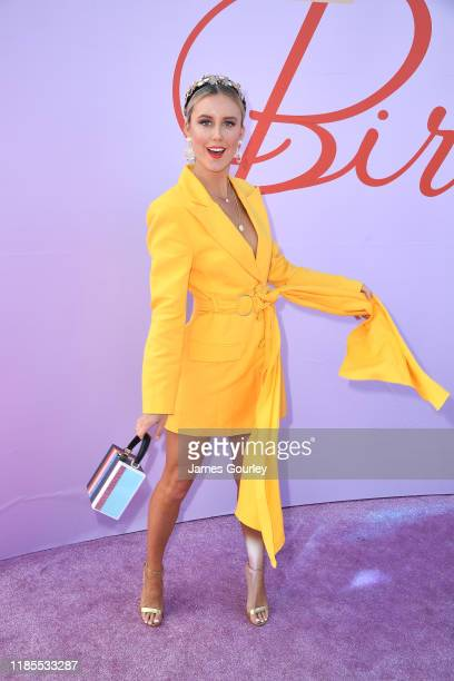 Liv Phyland attends Melbourne Cup Day at Flemington Racecourse on November 05 2019 in Melbourne Australia