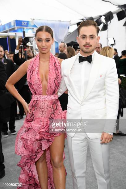 Liv Pollock and Dacre Montgomery attend the 26th Annual Screen ActorsGuild Awards at The Shrine Auditorium on January 19 2020 in Los Angeles...