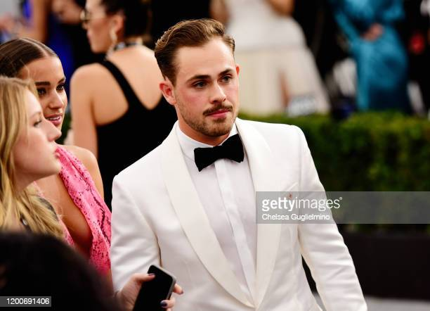 Liv Pollock and Dacre Montgomery attends the 26th annual Screen ActorsGuild Awards at The Shrine Auditorium on January 19 2020 in Los Angeles...
