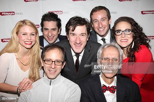 Liv Rooth Matthew Saldivar Carson Elrod Eric Clem and Jenn Harris John Rando and David Ives attending the Opening Night After Party for the Primary...