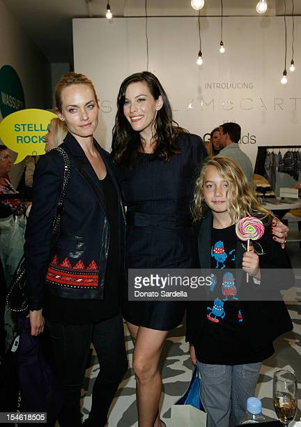 Liv Tyler Amber Valletta and son Auden McCaw attend the Stella McCartney for GapKids Pop Up Store event on November 4 2009 in Beverly Hills California