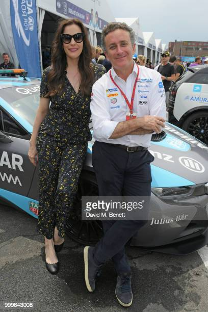 Liv Tyler and Alejandro Agag attend the Formula E 2018 Qatar Airways New York City EPrix the double header season finale of the 2017/18 ABB FIA...