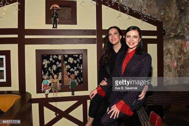 Liv Tyler and Bell Powley attends 'Wildling' New York Screening After Party at The Beekman on April 8 2018 in New York City