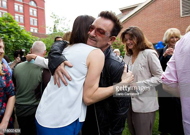 Liv Tyler and Bono attend the Stella McCartney Spring 2012 Presentation at a Private Location on June 13 2011 in New York City