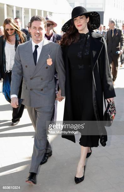 Liv Tyler and Dave Gardner attend day 2 'Ladies Day' of the Cheltenham Festival at Cheltenham Racecourse on March 15 2017 in Cheltenham England